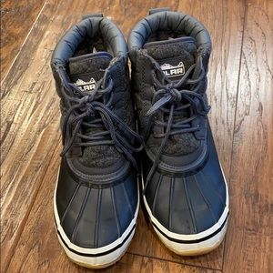 Polar Woman's Quilted Black Winter Snow Boots 9
